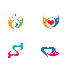Community icon design vector