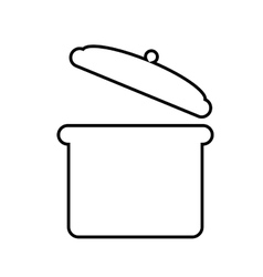 Cooking pot silhouette isolated icon design vector