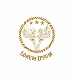 deer vintage logo vector image