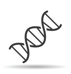 dna helix icon line style vector image