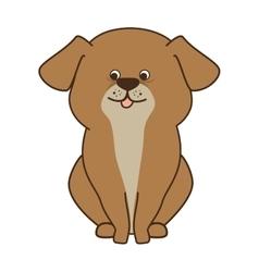 dog cartoon animal vector image