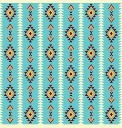 ethnic pattern with indian geometric ornament vector image