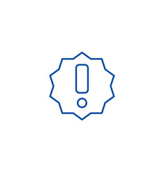 exclamation line icon concept exclamation flat vector image