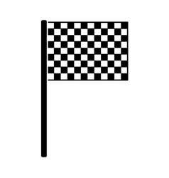 Flag checkered icon image vector
