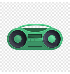 green boom box icon cartoon style vector image