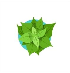Green Plant In Pot Office Worker Desk Element Part vector