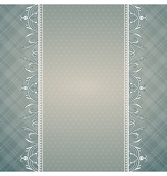 Grey background with decorative ornaments vector