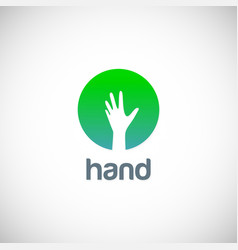 Hand icon logo vector