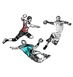 handball players vector image