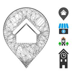 Hatched residence marker mesh vector