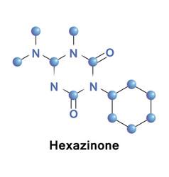 Hexazinone broad spectrum herbicide vector