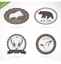 Hunting labels set vector