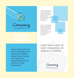 image frame company brochure title page design vector image