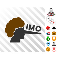 Imo lier icon with bonus vector