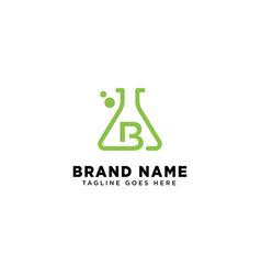 Initial b molecular dna logo design template icon vector