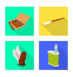 isolated object accessories and harm icon set vector image