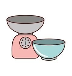Kitchen equipment utencils icon vector