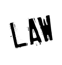 Law stamp rubber grunge vector