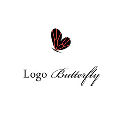 Logo a super butterfly vector