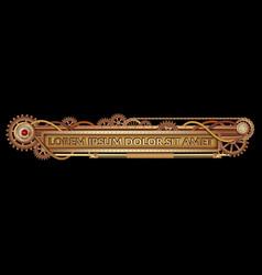 mechanical fantastic steampunk banner vector image