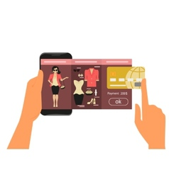 Mobile app for fashion shopping vector