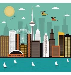 Modern city life vector
