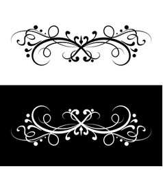 ornamental dividers black and white decorative vector image