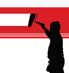 painting red wall vector image