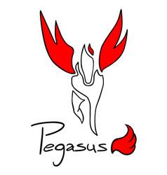 Pegasus symbol vector