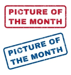 Picture of the month rubber stamps vector