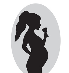 Pregnancy no drinking alcohol Red prohibition vector image