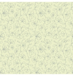 Retro seamless pattern with doodle stylized vector image vector image