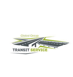Road crossroad icon for transit service vector