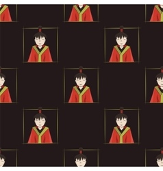 Seamless pattern with boys of Japan vector