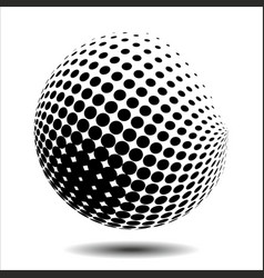 set abstract halftone 3d spheres 18 vector image vector image