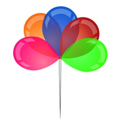 Set of colored transparent rubber balloons vector image