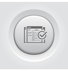 Setup Campaign Icon Grey Button Design vector