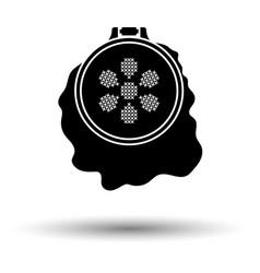 Sewing hoop icon vector