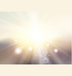 Sky with sunlight rays twilight blurred gradient vector