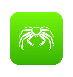Snow crab icon digital green vector
