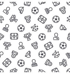 Soccer Icons Seamless Background vector