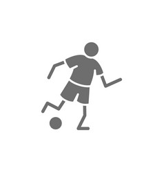 soccer player grey icon isolated on white vector image