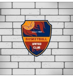 Sport basketball team logo college crest vector