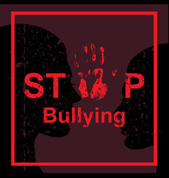 Stop bullying sign vector