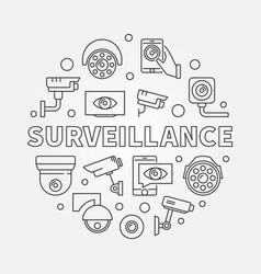 surveillance video security vector image