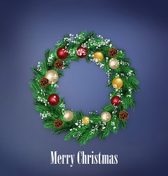 Traditional Christmas wreath vector image