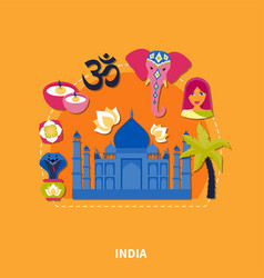 travel to india background vector image