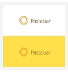 Twisted Italian Spaghetti Circle Logo Element vector