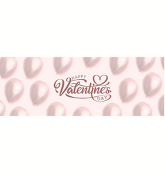 valentines day inscription vector image