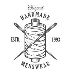 vintage monochrome tailor emblem vector image